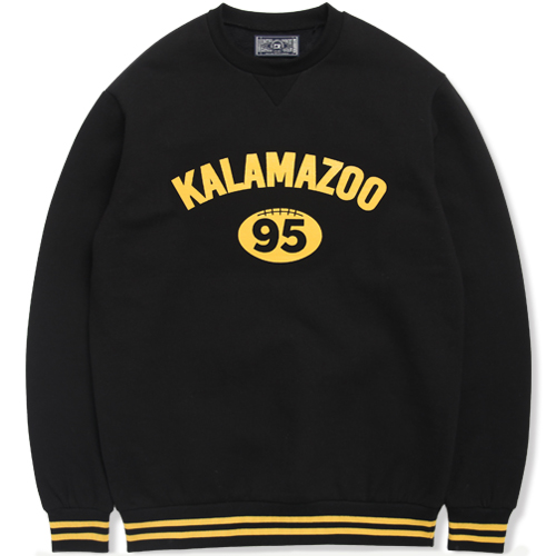 M#0889 football graphic crewneck (black)