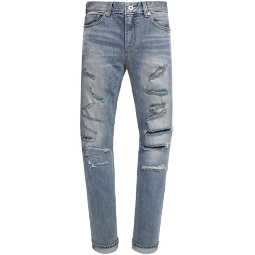 M#0901 scratch destroyed stretch jeans