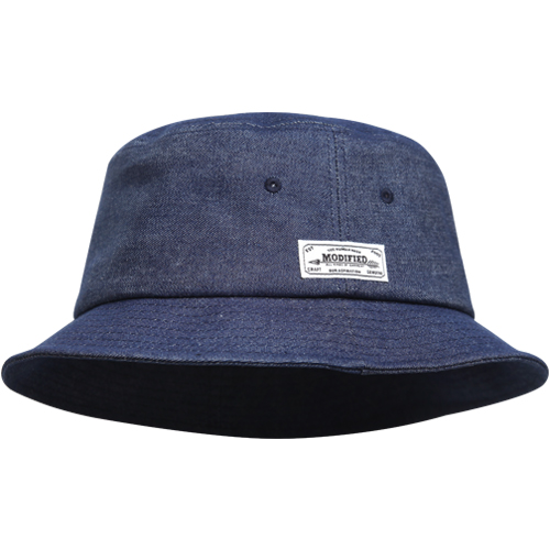 M#1007 modified bucket hat (indigo)