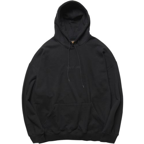 M#1029 over fit new hoodie (black)