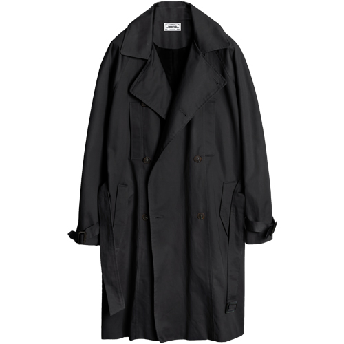 M#1044 modified trench coat (black)