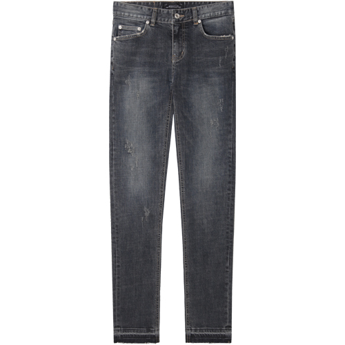 M#1091 triple grey washed jeans