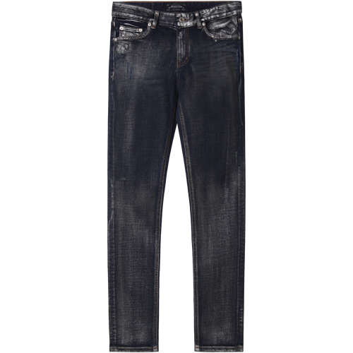 M#1100 upscale silver grey coated jeans