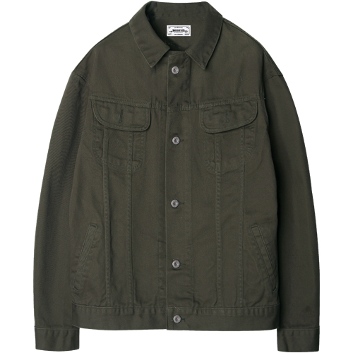 M#1200 cotton trucker jacket (khaki)