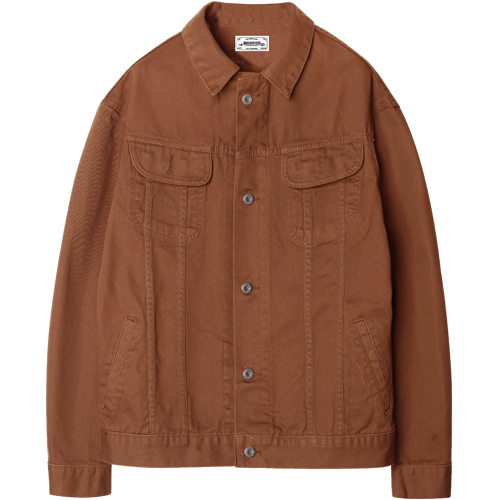 M#1202 cotton trucker jacket (orange)