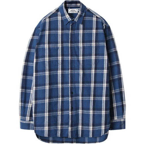M#1209 hidden detail shirt (blue)