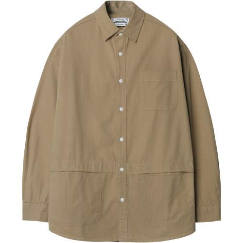 M#1226 pocket shirt jacket (beige)