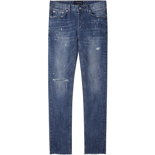 M#1234 island roll-up washed jeans