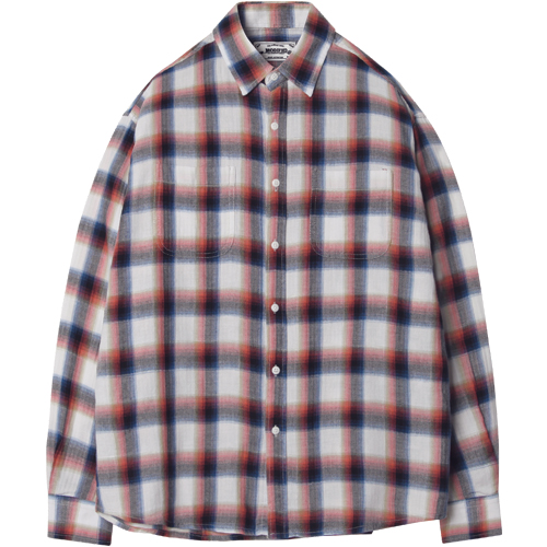 M#1251 multi plaid check shirt (pink)