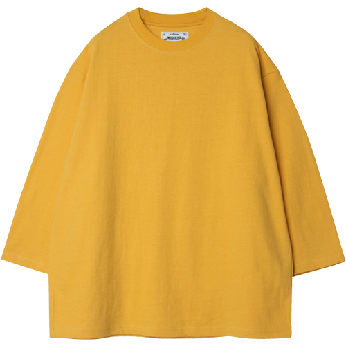 M#1263 3/4 back embroidery t-shirt (yellow)