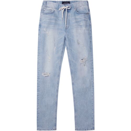 M#1266 hash banding washed jeans