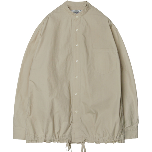 M#1278 washed string shirt jacket (beige)