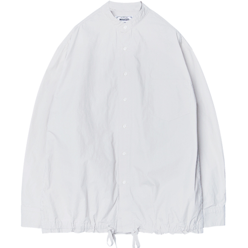M#1279 washed string shirt jacket (white)