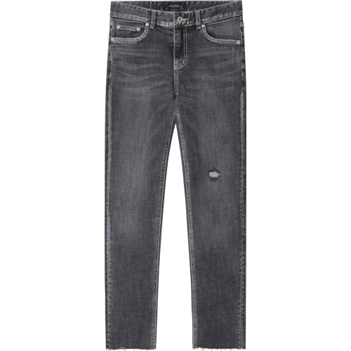 M#1281 beyond grey cutted crop jeans