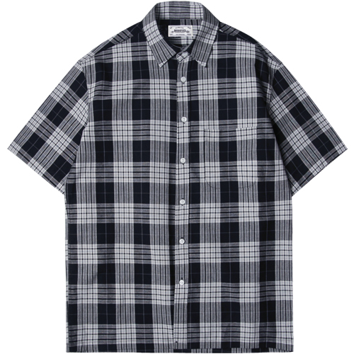 M#1289 multi color check shirt