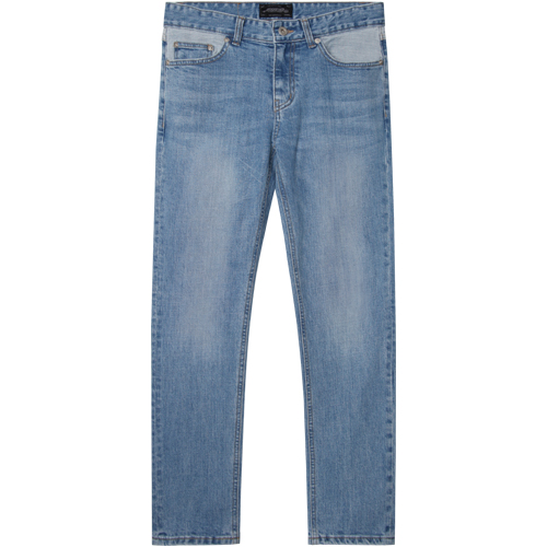 M#1339 twoface washed crop jeans