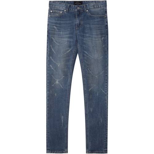 M#1365 scratch repair washed jeans