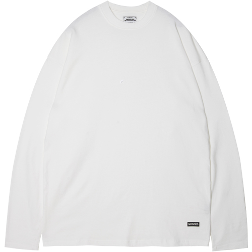 M#1376 pure cotton long sleeve tee (white)