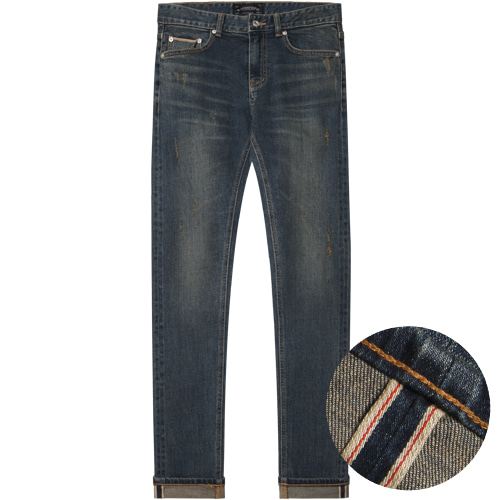 M#1395 goldrush selvedge washed jeans