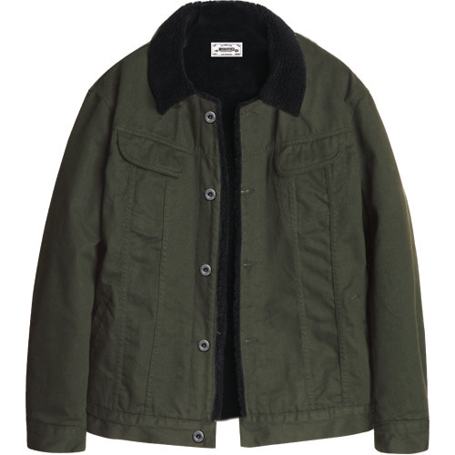M#1075 new sherpa trucker jacket (khaki)