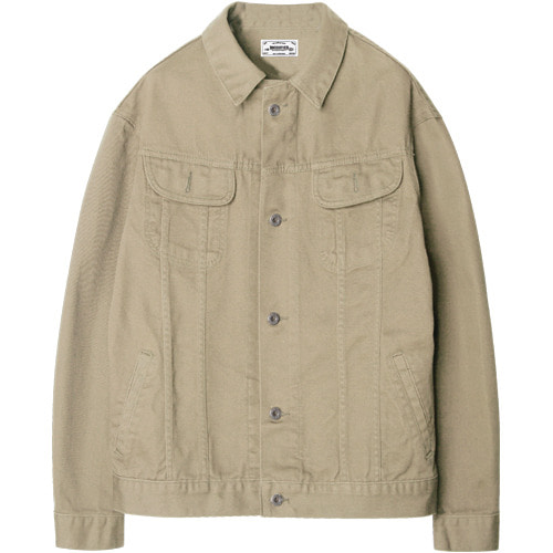 M#1203 cotton trucker jacket (beige)