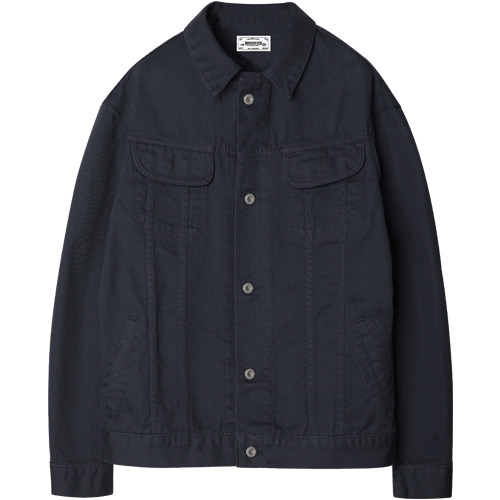 M#1204 cotton trucker jacket (navy)