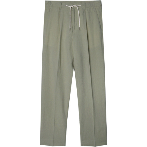M#1356 linen string crop slacks (khaki)