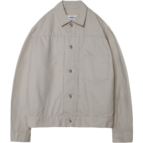 M#1379 cotton canvas jacket (beige)