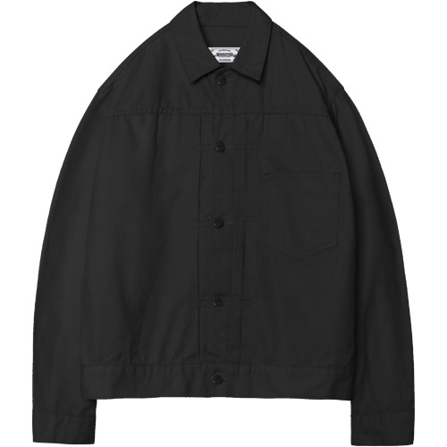 M#1380 cotton canvas jacket (black)