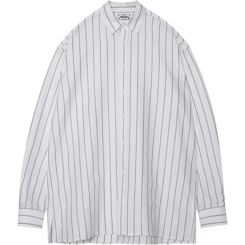 M#1382 v sign stripe shirt