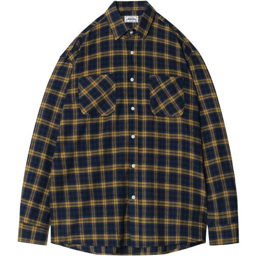M#1397 fabulous check shirt (yellow)