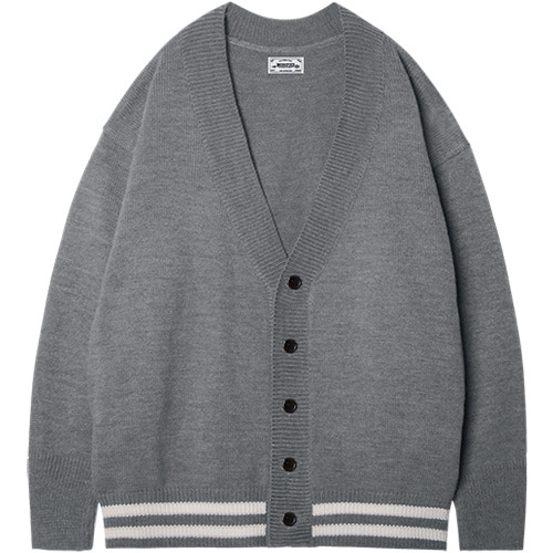 M#1407 grond over cardigan (grey)