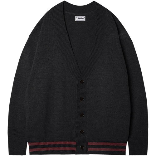 M#1409 grond over cardigan (black)