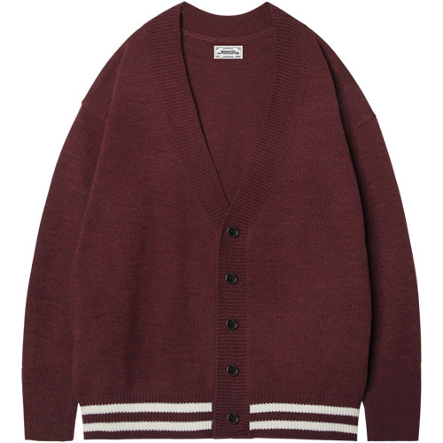 M#1410 grond over cardigan (burgundy)