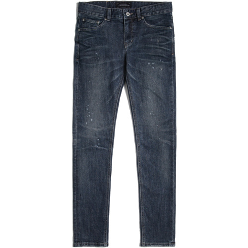 M#1422 embossing slim washed jeans