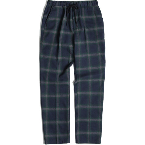M#1424 green check banding slacks