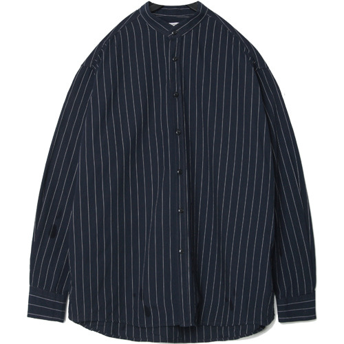 M#1434 Fall stripe stand collared shirts (stripe)
