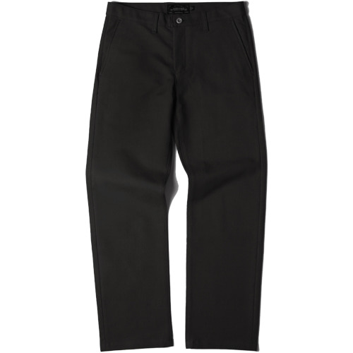 M#1436 520G slim wide fit cotton pants (black)