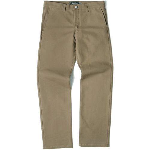 M#1437 520G slim wide fit cotton pants (beige)