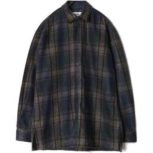 M#1444 mood check shirt (navy)