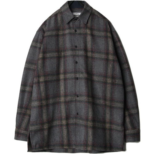 M#1445 mood check shirt (grey)
