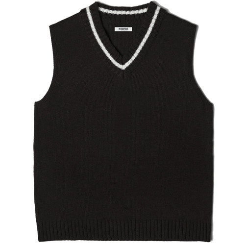 M#1456 league knit vest (black)