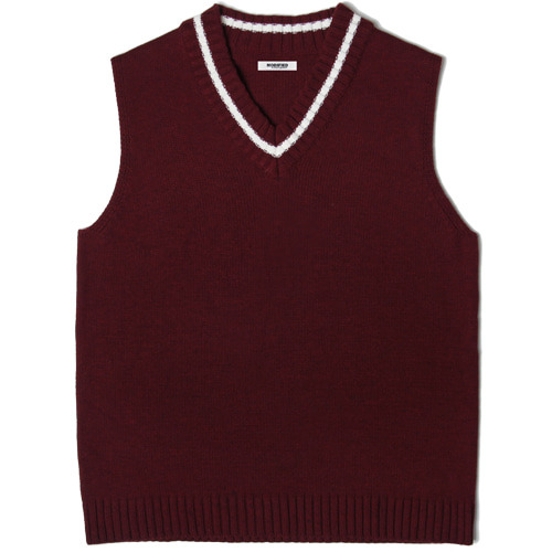 M#1457 league knit vest (burgundy)
