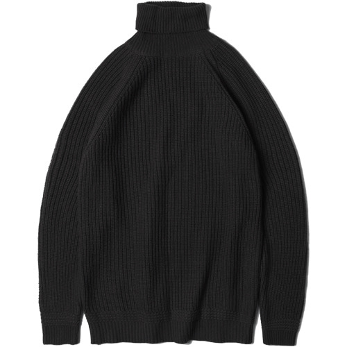 M#1460 wool soild turtleneck (black)