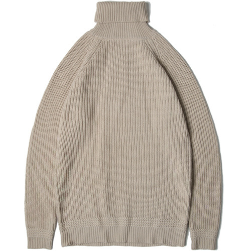 M#1462 wool soild turtleneck (beige)