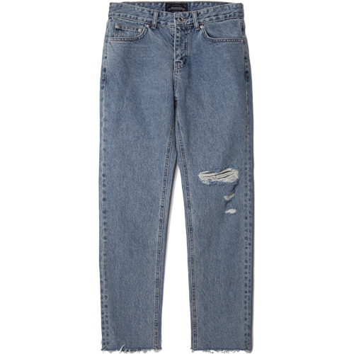 M#1463 hemline cutting denim