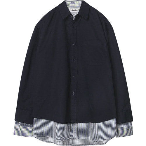 M#1501 layered double shirt (navy)