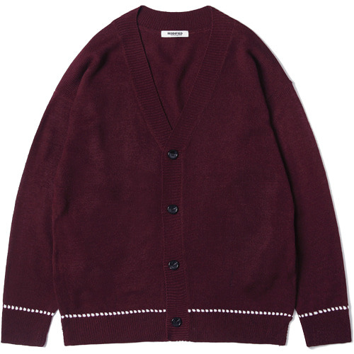 M#1503 dotted line over cardigan (burgundy)