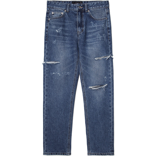 M#1517 sidewalk cutted crop jeans