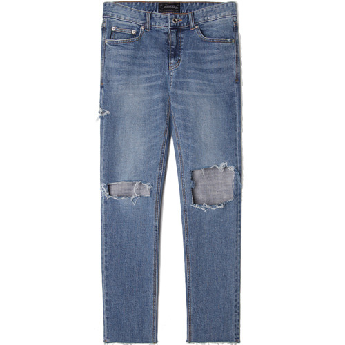 M#1520 box cut slim crop jeans